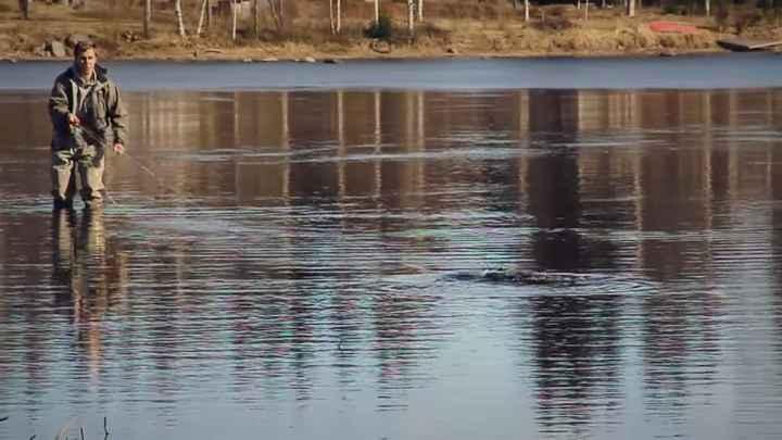 Regarder vidéo de la pêche sur inférieur volgi