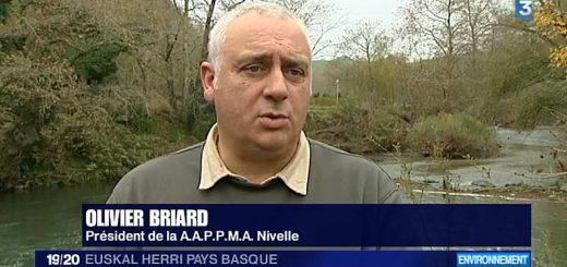 olivier Briard - président AAPPMA Côte Basque - défense du saumon de la Nivelle